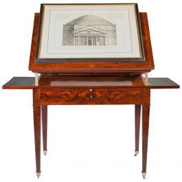 French Mahogany Architect's Table
