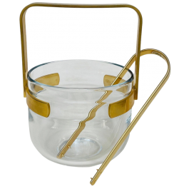 Gold plated ice bucket