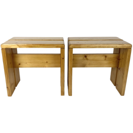 Stool / side table / Small bench by Charlotte Perriand for Les Arcs