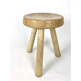 Stool / side table from Les Arcs by Charlotte Perriand