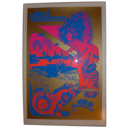 Hapshash Jimi Hendrix re-issue print framed and signed by Nigel Waymouth