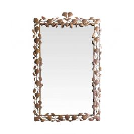 Large Decorative 1950S Metal Mirror With Oak Leaves And Acorn Surround Frame