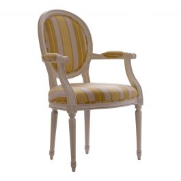 Oval Upholstered Armchair