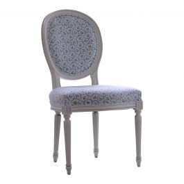 Oval Upholstered Chair
