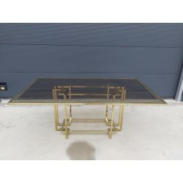 Maison Jensen Style Brass Dining Table from Belgo Chrom / Dewulf Selection, 1983