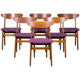 Mid-Century Danish Teak Dining Chairs from Farstrup Møbler, Set of 6