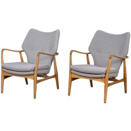 Mid-Century Design Lounge Chairs by Madsen & Schubell, Set of 2