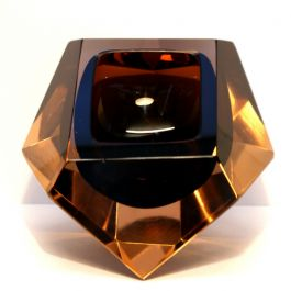 Murano glass geometric block bowl