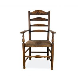 English 19th Century Ladder Back Armchair