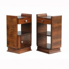 Pair of Art Deco Bed Side Cabinets c1930s France