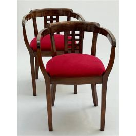 Pair of bentwood hall chairs