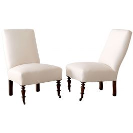 French Antique Slipper Chairs