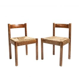 Pair of Alpine Chairs in the manner of Charlotte Perriand