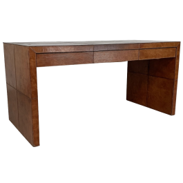 Late 20th century leather desk