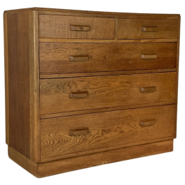 Midcentury Oak Chest Of Drawers