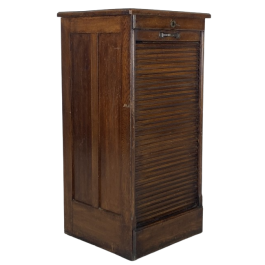 Early 20th century tambour filing cabinet