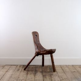 Sculptural 'Dug Out' Chair