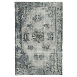 Hand-knotted Oriental Grey Decorative Overdyed Rug