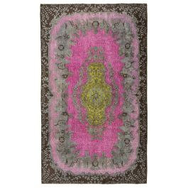 Hand-knotted Oriental Brown Decorative Overdyed Carpet