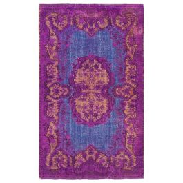 Hand-knotted Anatolian Purple Antique Overdyed Rug