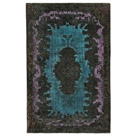 Hand-knotted Anatolian Brown Distressed Carved Carpet