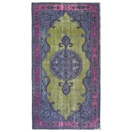 Hand-knotted Oriental Purple Decorative Overdyed Rug