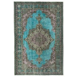 Hand-knotted Turkish Grey Unique Overdyed Rug