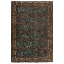 Hand-knotted Turkish Brown Bohemian Overdyed Carpet