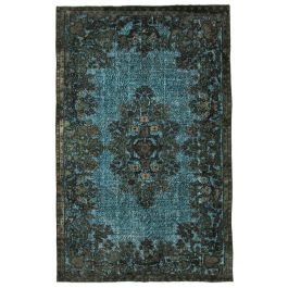 Handwoven Turkish Brown Traditional Carved Rug