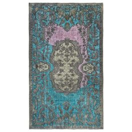 Hand-knotted Anatolian Grey Rustic Overdyed Carpet