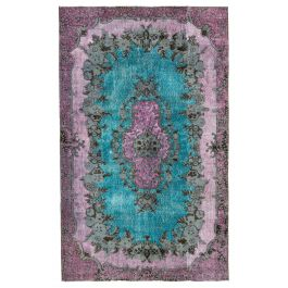 Handmade Turkish Pink Unique Over-dyed Carpet