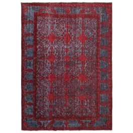 Handmade Oriental Red Faded Over-dyed Carpet