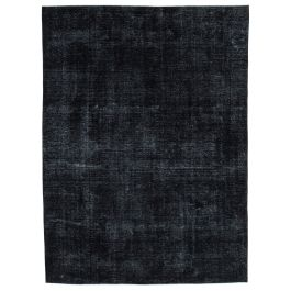 Hand-knotted Oriental Black Decorative Large Overdyed Rug