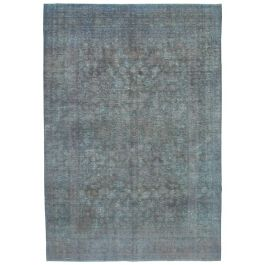 Hand-knotted Anatolian Grey Rustic Large Overdyed Rug