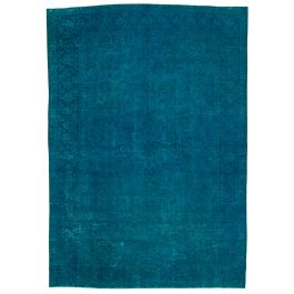 Handwoven Oriental Turquoise One-of-a-Kind Large Colorful Rug