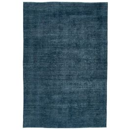 Hand-knotted Turkish Blue Unique Large Overdyed Rug