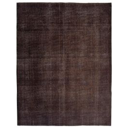 Handmade Oriental Brown Antique Large Over-dyed Rug
