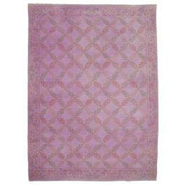 Handmade Turkish Purple Contemporary Large Over-dyed Rug