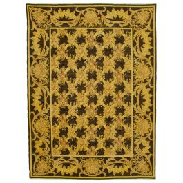 Hand-knotted Oriental Yellow Decorative Large Overdyed Rug