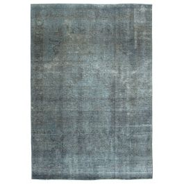 Handwoven Turkish Grey Contemporary Large Overdyed Rug