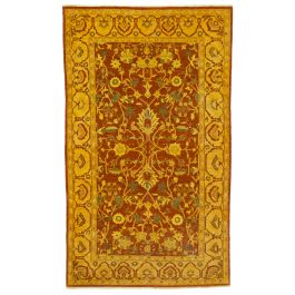 Handmade Oriental Yellow One-of-a-Kind Large Vintage Rug