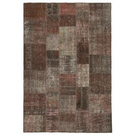Handmade Oriental Brown One-of-a-Kind Patchwork Rug