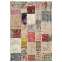 Hand-knotted Anatolian Multi Rustic Patchwork Carpet
