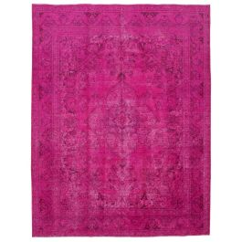 Handwoven Oriental Pink Antique Large Colorful Rug