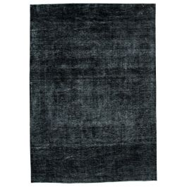 Handmade Oriental Black One-of-a-Kind Large Over-dyed Rug