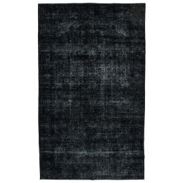 Handwoven Oriental Black One-of-a-Kind Large Colorful Rug
