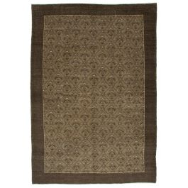 Handmade Oriental Brown Decorative Large Over-dyed Rug