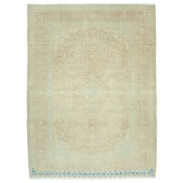 Hand-knotted Oriental Beige Traditional Large Vintage Rug