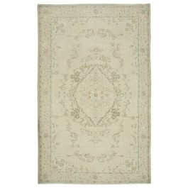 Hand-knotted Anatolian Beige Antique Vintage Rug