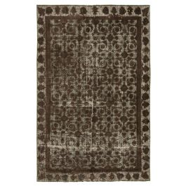 Handmade Oriental Brown One-of-a-Kind Over-dyed Rug